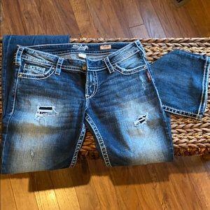 31x31 Bootcut Silver Jeans